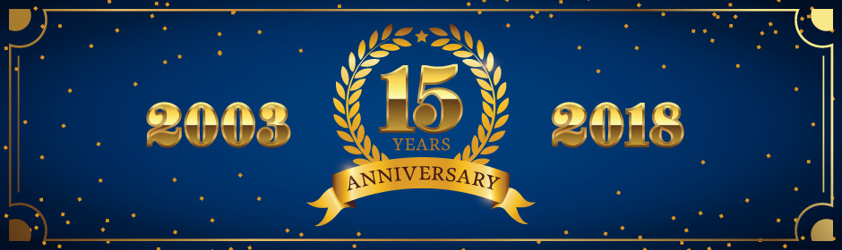 SLAS 15 Years Banner